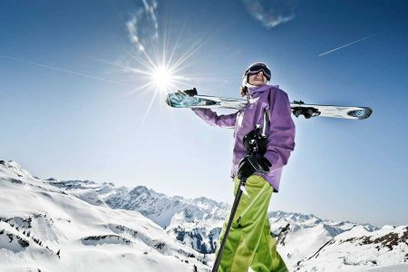 Wo Skifahren in den Genen liegt. Skitag bei strahlendem Sonnenschein