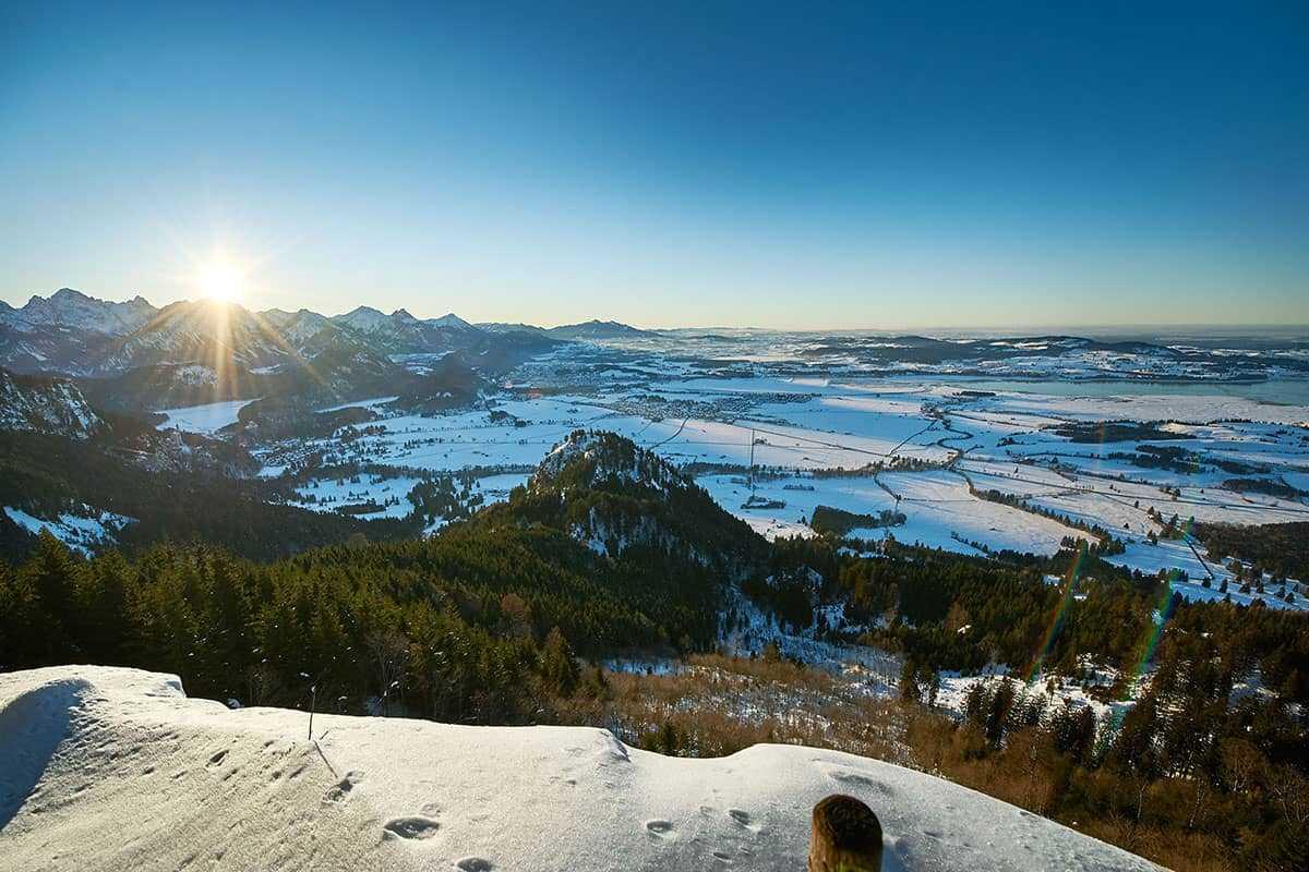 Wo Skifahren in den Genen liegt. Winterlandschaft im Allgäu
