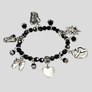 Perlenarmband Trachtenzauber - schwarz