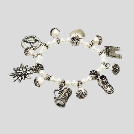 Perlenarmband Trachtenzauber - weiss