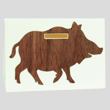 Geschenkarte - Spardose - Wildschwein