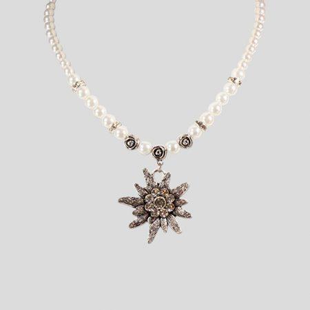 Edelweiss-Perlenkette Fiona - weiss