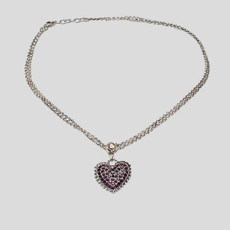 Glitzerherzerl - Halskette Mia - lila