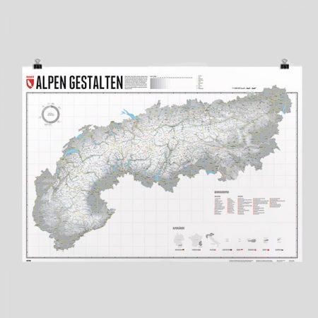 Wanderkarte - Alpen gestalten