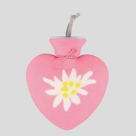 Edelweiss Wärmflasche - old rose