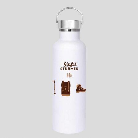 Gipfelstürmer-Flasche aus Edelstahl