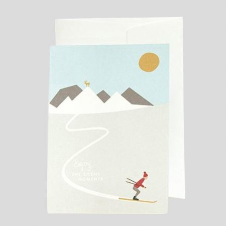 Grusskarte Skifahrer