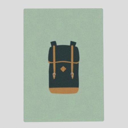 Postkarte Rucksack
