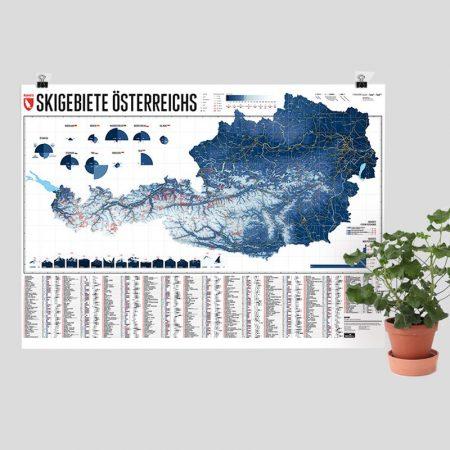 Karte Skigebiete in Österreich