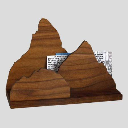 Zettelhalter mit Gebirge