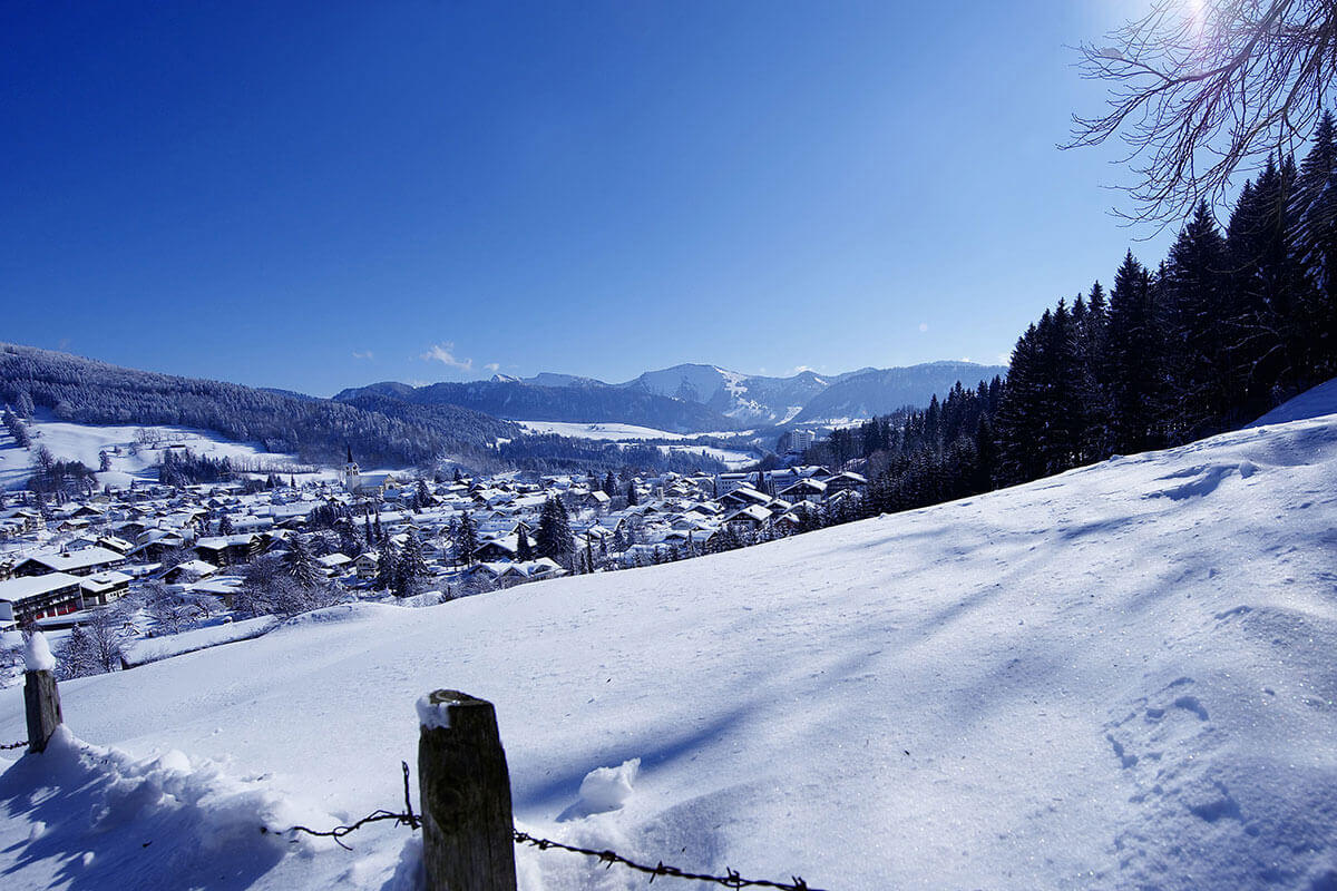 Oberstaufen Winterpanorama