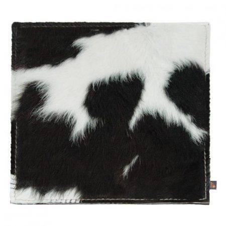 Kuhfell-Sitzkissen schwarz-weiß 40x40 cm