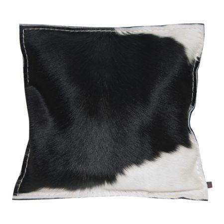 Kuhfell-Kissen mit Federfüllung schwarz-weiß 40x40 cm