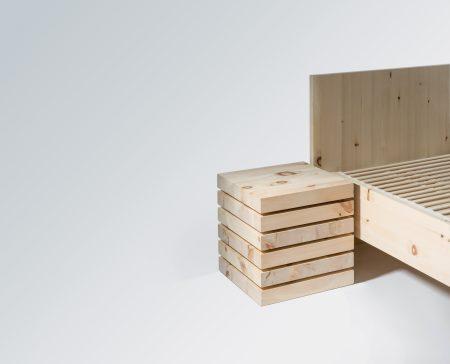 Sixpack - Nachtkästchen/Beistelltisch aus Zirbe